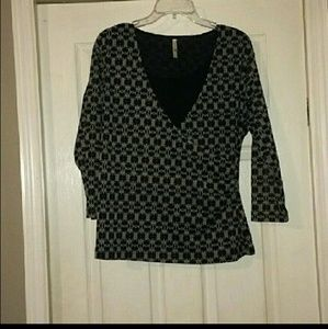 Whit Stag long sleeve patterned shirt size XL